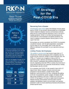 Whitepaper: IT Strategy for the Post-COVID Era.