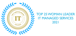 Top 25 Woman Leader IT Managed Services 2021 logo.