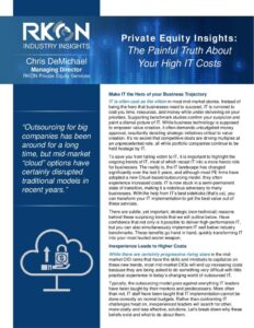 Whitepaper: Private Equity Insights: The Painful Truth About Your High IT Costs.