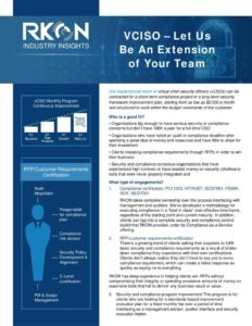 Whitepaper: VCISO - Let Us Be An Extension of Your Team.